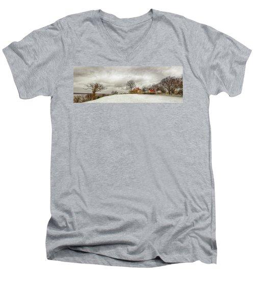 Snowy Mt Vernon Men's V-Neck T-Shirt