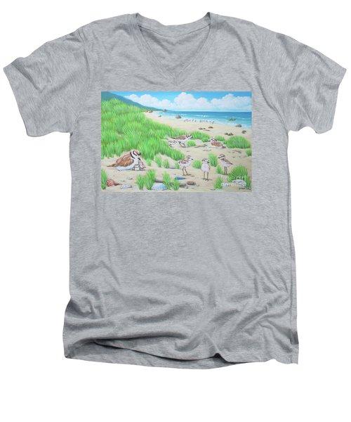 Snowy Plover Men's V-Neck T-Shirt