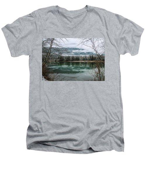 Snowy Reflection Men's V-Neck T-Shirt
