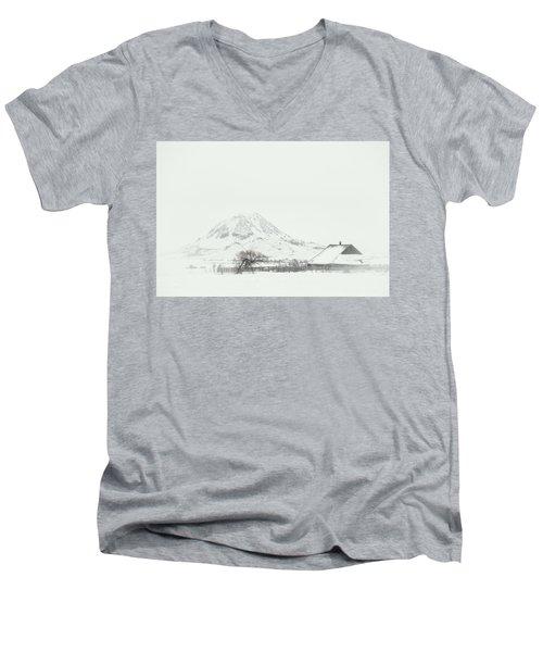 Snowy Sunrise Men's V-Neck T-Shirt