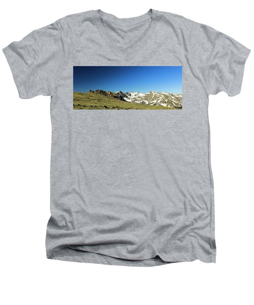Snowy Top Men's V-Neck T-Shirt