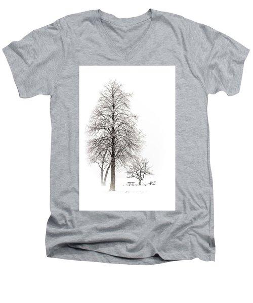 Snowy Trees Men's V-Neck T-Shirt