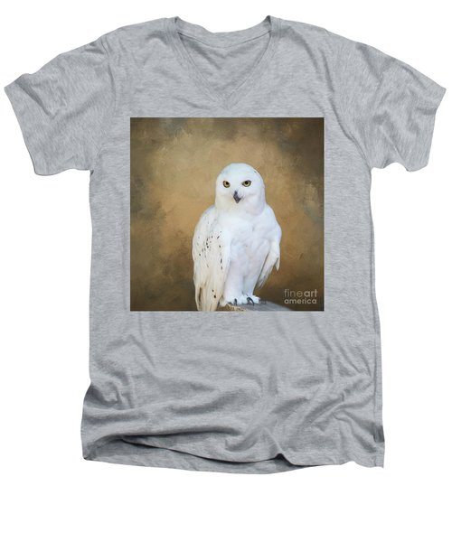 Snowy White Men's V-Neck T-Shirt