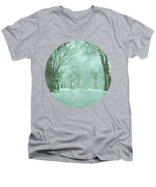 Snowy Winter Night Men's V-Neck T-Shirt