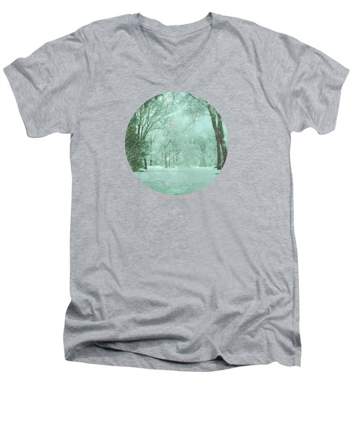 Snowy Winter Night Men's V-Neck T-Shirt