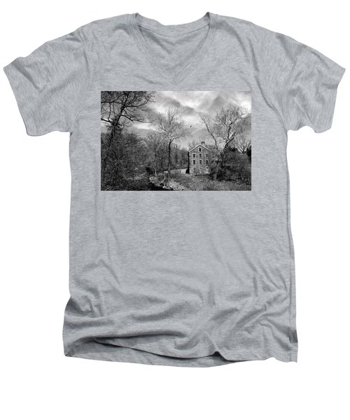 Men's V-Neck T-Shirt featuring the photograph Snuff by Diana Angstadt