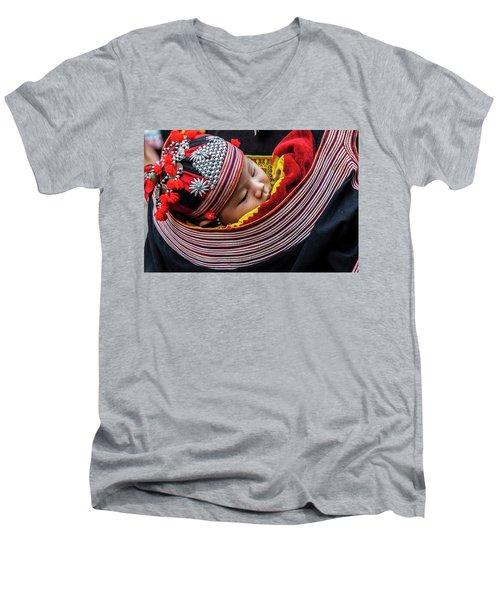 Snug As A Bug. Men's V-Neck T-Shirt