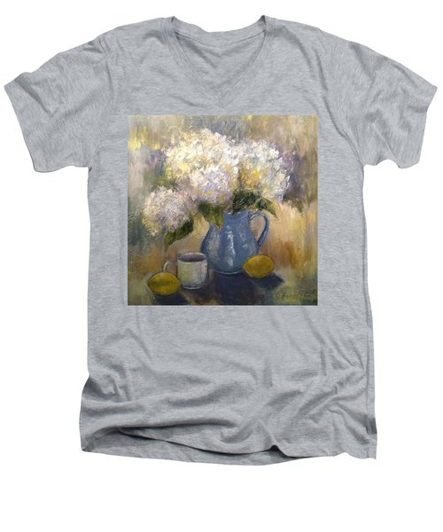 So Happy And Excited To Say That This Men's V-Neck T-Shirt by Jennifer Beaudet