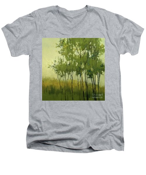 So Tall Tree Forest Landscape Painting Men's V-Neck T-Shirt