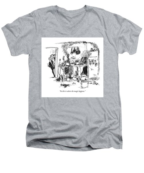 So This Is Where The Magic Happens Men's V-Neck T-Shirt