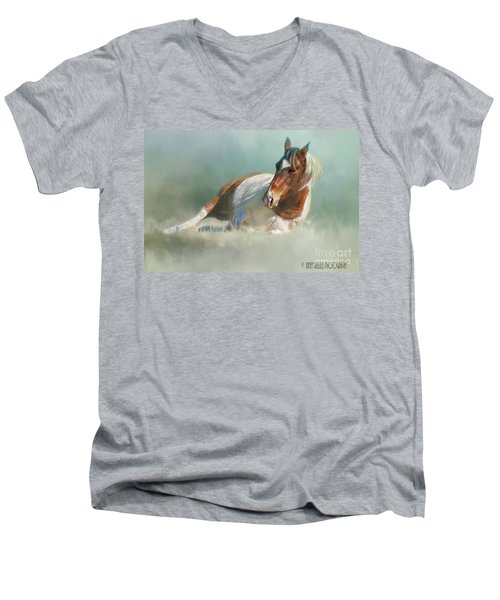 Soaking Up Some Sun Men's V-Neck T-Shirt by Kathy Russell