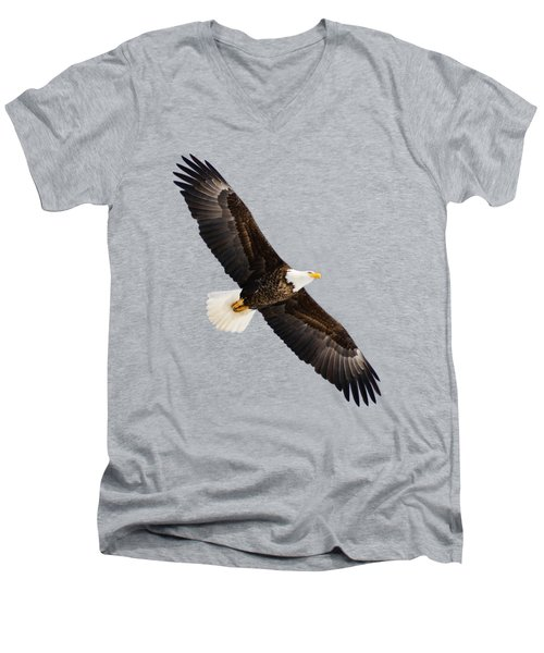 Soaring Eagle Men's V-Neck T-Shirt by Greg Norrell