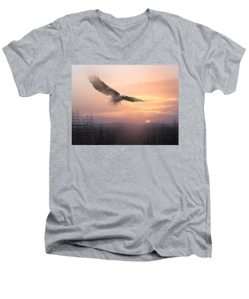Soaring Free Men's V-Neck T-Shirt