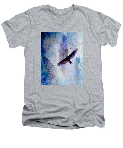 Soaring Men's V-Neck T-Shirt by Lisa Noneman