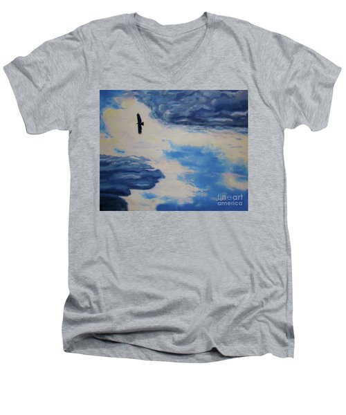 Soaring   Men's V-Neck T-Shirt by Lisa Rose Musselwhite