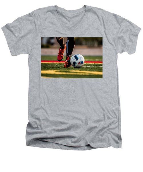 Soccer Men's V-Neck T-Shirt