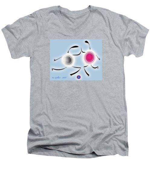 Soccer Practice Men's V-Neck T-Shirt by Iris Gelbart