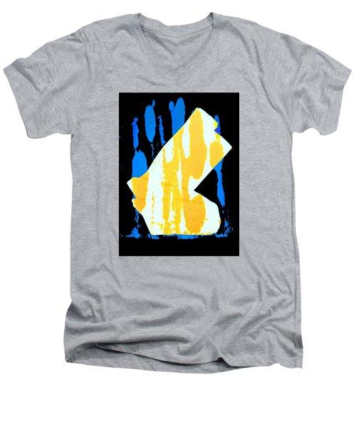 Socks Men's V-Neck T-Shirt by Bob Pardue