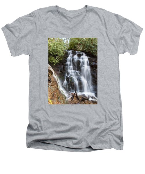 Soco Falls Men's V-Neck T-Shirt by Craig T Burgwardt