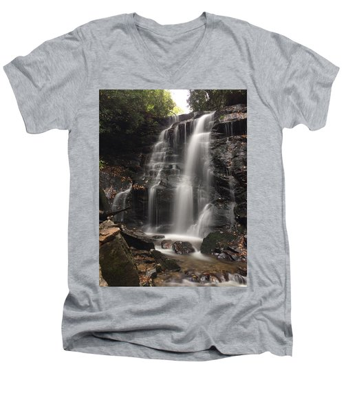 Soco Falls-portrait Version Men's V-Neck T-Shirt