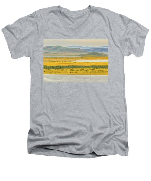 Men's V-Neck T-Shirt featuring the photograph Soda Lake To Caliente Range by Marc Crumpler