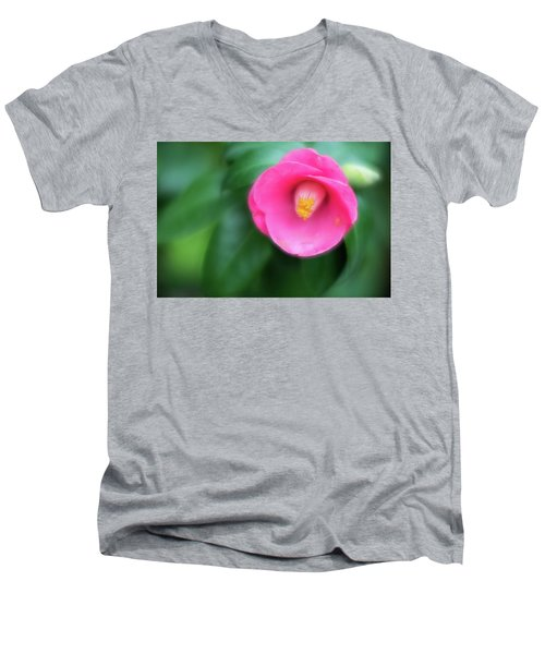 Soft Focus Flower 1 Men's V-Neck T-Shirt