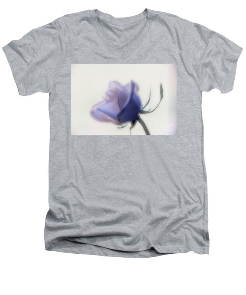 Soft Focus Rose Men's V-Neck T-Shirt
