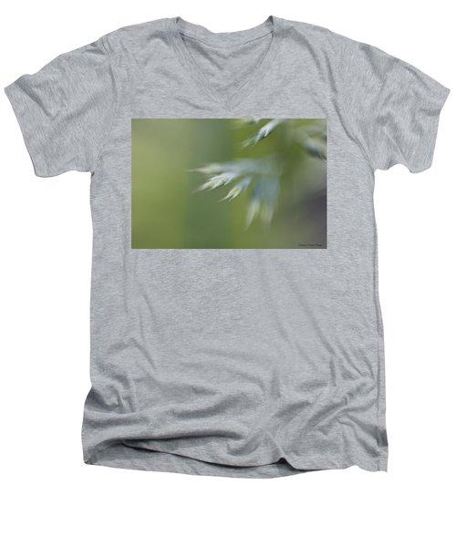 Men's V-Neck T-Shirt featuring the photograph Soft Green by Michaela Preston