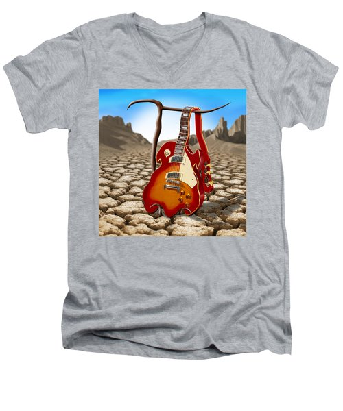 Soft Guitar II Men's V-Neck T-Shirt