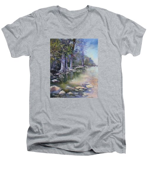 Soft Light On The Pedernales Men's V-Neck T-Shirt