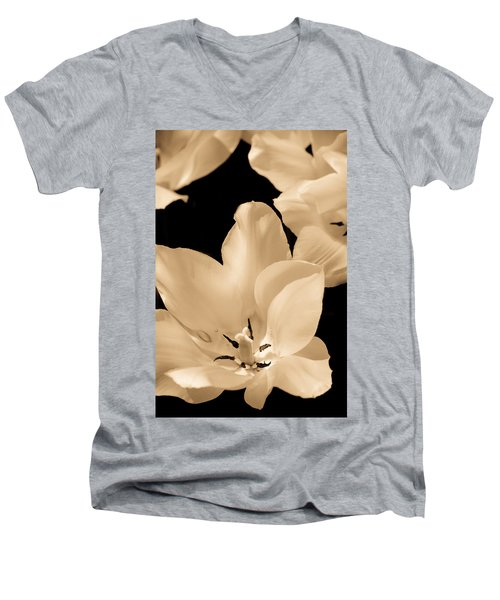 Soft Petals Men's V-Neck T-Shirt