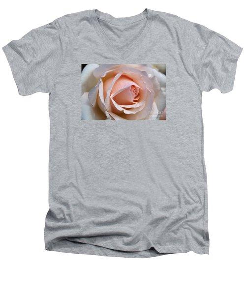 Soft Rose Men's V-Neck T-Shirt by Joy Watson