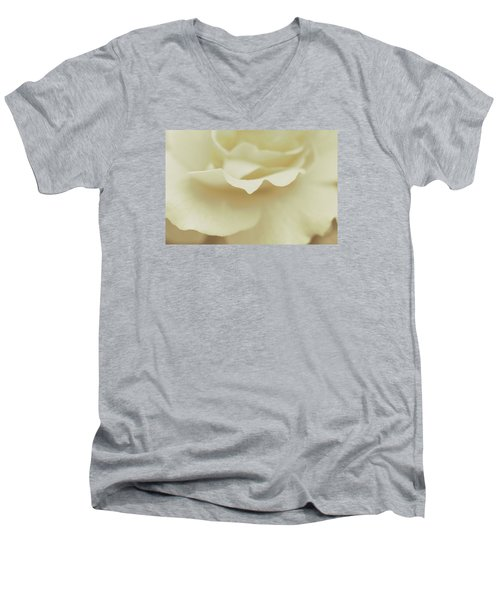 Men's V-Neck T-Shirt featuring the photograph Soft Tender Rose by The Art Of Marilyn Ridoutt-Greene