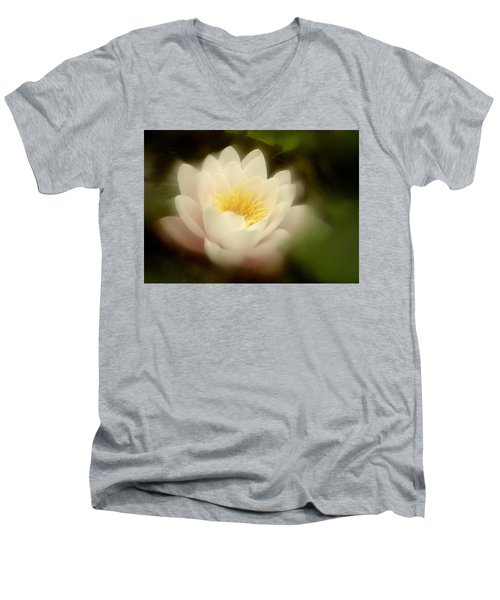 Soft Water Lily Men's V-Neck T-Shirt