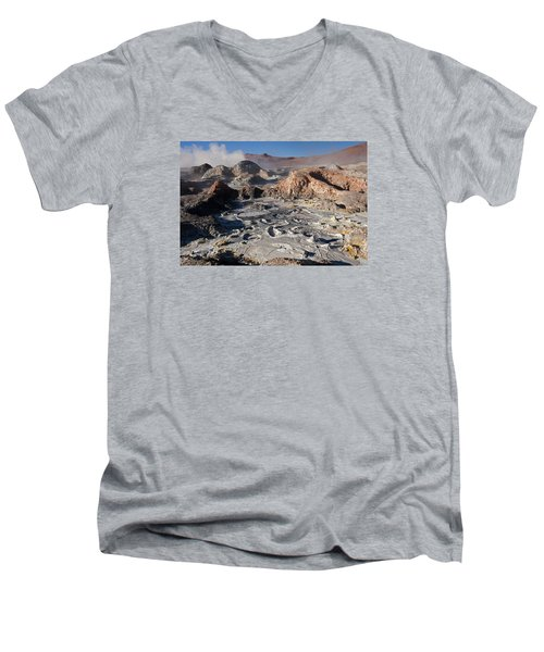Sol De Manana Geothermal Field  Men's V-Neck T-Shirt