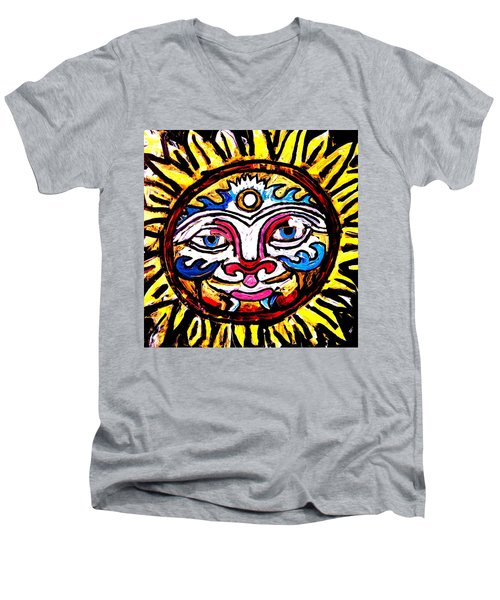 Sol Horizon Band Men's V-Neck T-Shirt