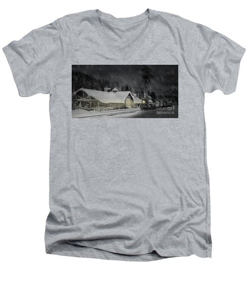 Solace From The Storm Men's V-Neck T-Shirt by Brad Allen Fine Art