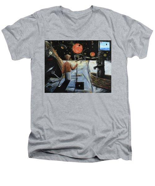 Solar Broadcast -transition- Men's V-Neck T-Shirt by Ryan Demaree