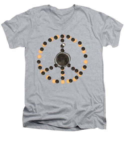 Solar Eclipse Peace On Earth Men's V-Neck T-Shirt