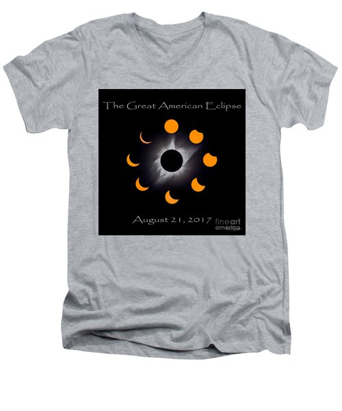 Solar Eclipse Stages Men's V-Neck T-Shirt