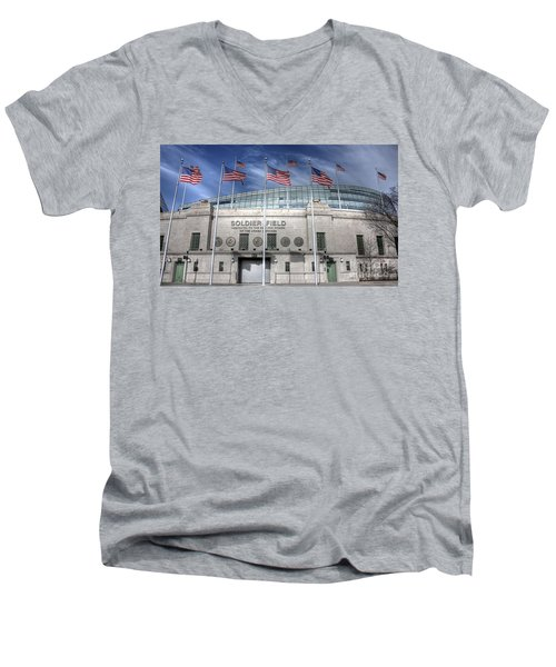 Soldier Field Men's V-Neck T-Shirt