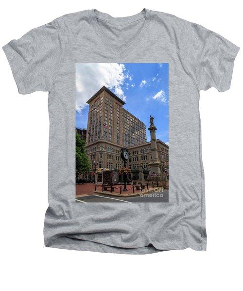 Soldiers Monument In Penn Square In Lancaster Men's V-Neck T-Shirt