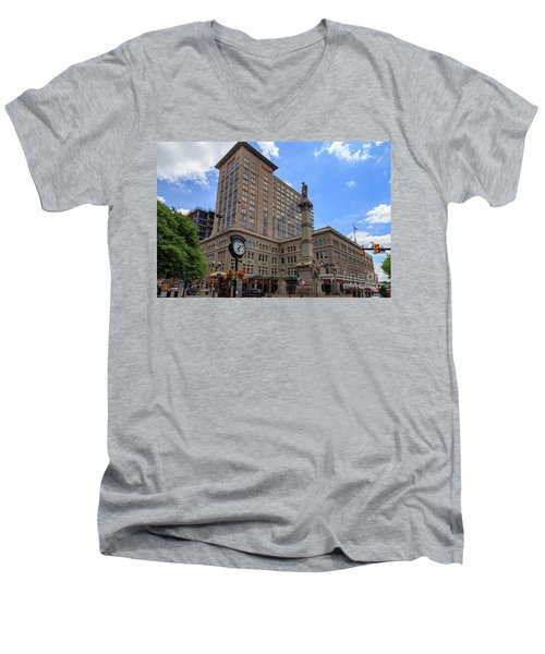 Soldiers Monument In Penn Square In Lancaster Pa Men's V-Neck T-Shirt