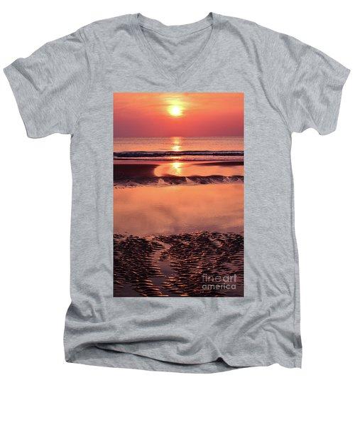 Solemn Reflection Men's V-Neck T-Shirt