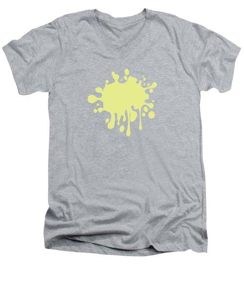 Solid Yellow Pastel Color Men's V-Neck T-Shirt