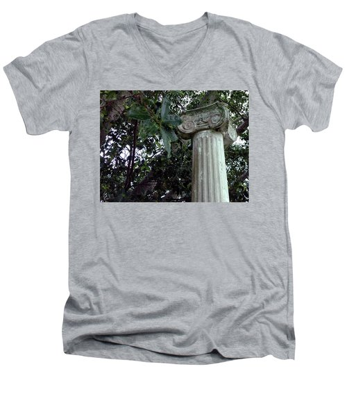 Men's V-Neck T-Shirt featuring the photograph   Solitary by Steve Sperry
