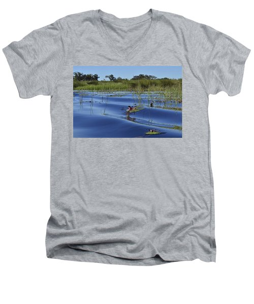 Solitude In The Okavango Men's V-Neck T-Shirt