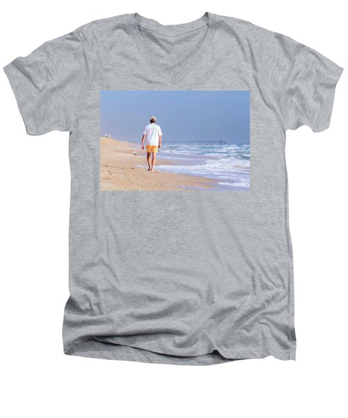 Solitude Men's V-Neck T-Shirt by Keith Armstrong