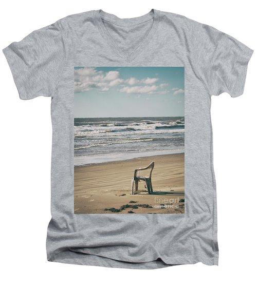 Solo On The Beach Men's V-Neck T-Shirt