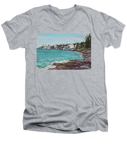 Solomons Lighthouse Men's V-Neck T-Shirt